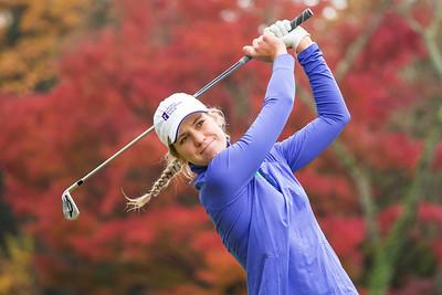 Olafia Kristinsdottir of Iceland during a practice round