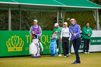 Florentyna Parker of England during the pro-am