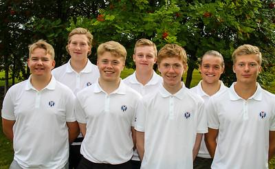 Frá vinstri: Viktor Ingi Einarsson (GR), Kristján Benedikt Sveinsson (GA), Ingvar Andri Magnússon (GR), Daníel Ísak Steinarsson (GK), Dagbjartur Sigurbrandsson (GR),  Ragnar Már Ríkharðsson (GM), Arnór Snær Guðmundsson (GHD).