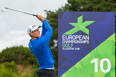 Axel Boasson of Iceland during a practice round
