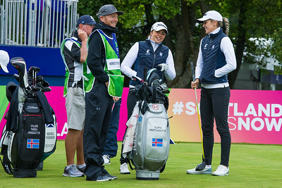 Team Iceland on the first tee during the wednesday matches
