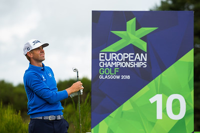 Birgir Hafthorsson of Iceland during a practice round