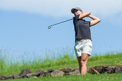 Gudrun Bjorgvinsdottir of Iceland during a practice round