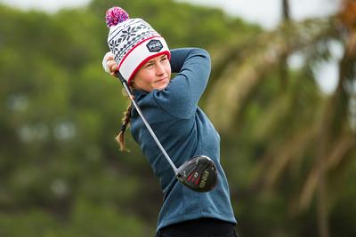Gudrun Bjorgvinsdottir of Iceland during the fourth round