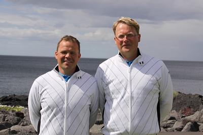 Keppendur og liðstjórar karla- og kvennaliða Íslands sem tóku þátt í Evrópukeppni liða 2010