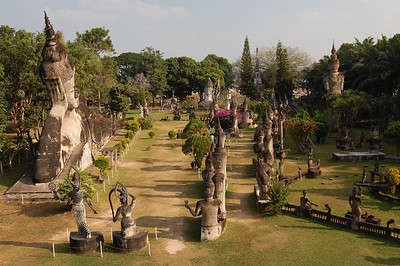 Xieng Khuan Buddha Park. Weird and very wonderful!