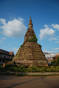 It's not usual to round the corner and find an ancient grand stupa in the middle of the street!