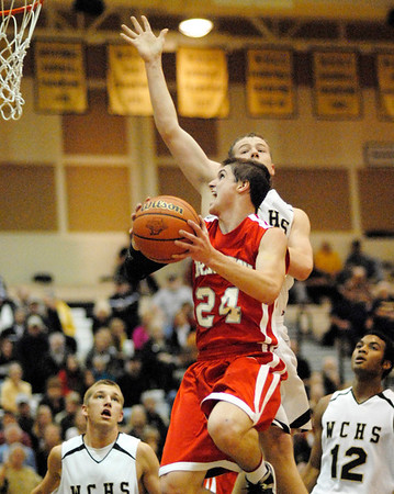 Frankton senior Trevor Hughes goes in for a lay up for the eagles.