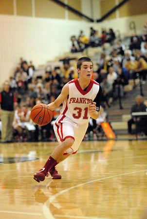 Austin Compton handles the ball for the Eagles.