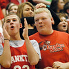 Frankton fans clap during the introduction of players.