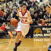 Frankton Eagle Trevor Hughes drives toward the basket.