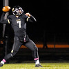 Don Knight/The Herald Bulletin<br /> Lapel quarterback Brady Cherry passes the ball as the Bulldogs hosted the Elwood Panthers in the first round of sectional action on Friday.