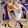 Lapel's Drew Norton reaches for the ball as the Bulldogs hosted the Guerin Catholic Golden Eagles on Saturday.
