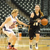 Kirsten Rich brings the ball downcourt for Lapel.