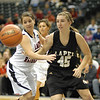 Morgan Tarlton goes after a loose ball on the Lady Bulldogs end of the court.