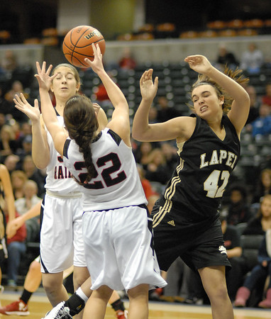 Daniele Burnell fights for a rebound during the second quarter of the game.