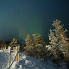 "Northern Lights, ""revontulet"" in Finnish, Finnish Lapland."