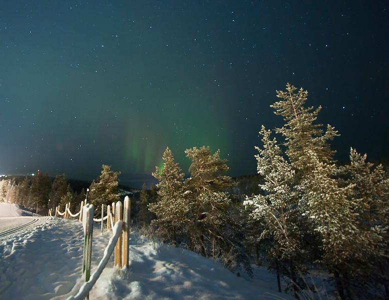 "Northern Lights, ""revontulet"" in Finnish, Finnish Lapland."
