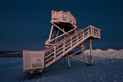 Observation tower, Finnish Lapland.
