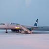 Finnair flight on the tarmac at Ivalo, Finland airport.