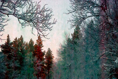 The countryside as watercolor, Finnish Lapland.
