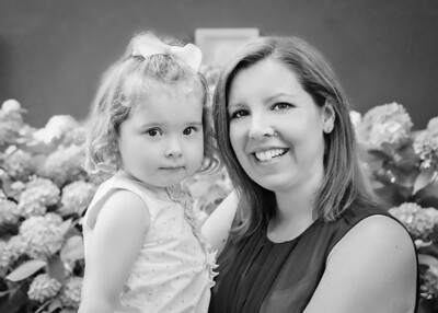 Mom and Lucy bw (1 of 1)