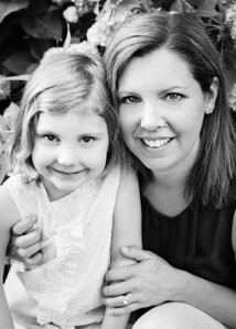 Mom and Sophia Flowers crop bw (1 of 1)