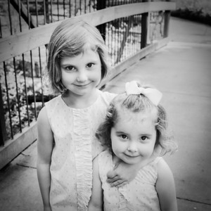 Two Sweet Girls 1-1 crop (square) bw (1 of 1)
