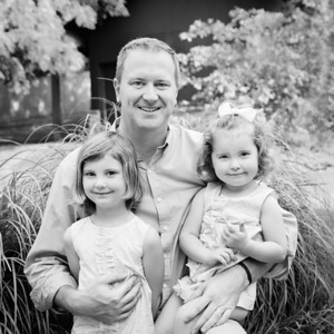Daddy and His Girls - Square Crop! bw (1 of 1)