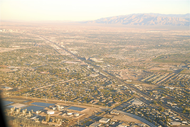 Boulder Highway from the Air