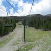 Starting out.  There is no safety bar.  That's the first chairlift I've ever ridden without one.  Better be careful!