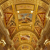 The hallway from the lobby entrance at the Venetian