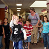 Mrs. Stevens gives her 2nd grade class a tour of the second floor of the Gunnison Elementary School to show them where they will go to class next year.<br /> <br /> Photo by Chris Rourke
