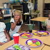 Amber Guerrieri, Kali Wiggin, and Meghan McGregor enjoy pizza and a good laugh on the last day of school in Mrs. Wells class.<br /> <br /> Photo by Chris Rourke