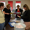 The kindergarten teachers go through materials to be packed on the last day of school.  Kindergarten classes will be at thely remodeled Lake School next fall.<br /> <br /> Photo by Chris Rourke