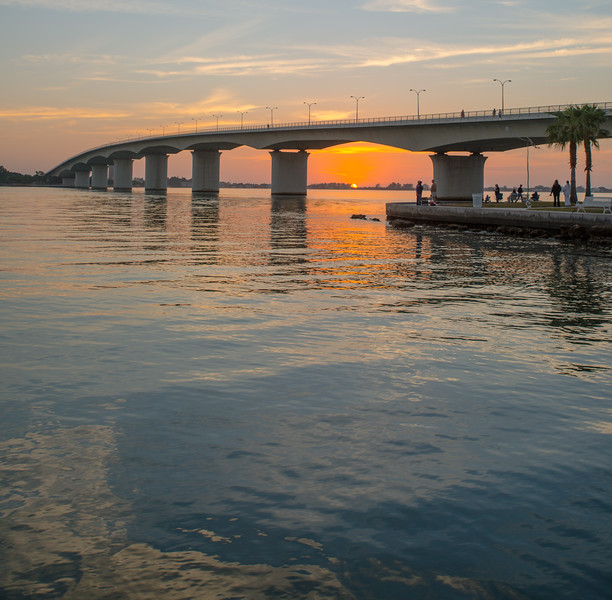 Last sunset of 2012 from under the Ringling Bridge