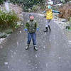 1st snow fall - crazy kids