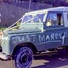 1973 Wedding car at Mary and Erics wedding b NEG