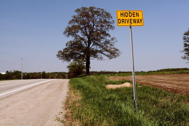 Hidden Driveway along Countryside Road