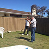 Dad's Xmas pressie getting tested out in Blenheim