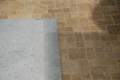 New stone tile floor