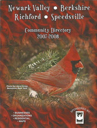 """<div class=""""jaDesc""""> <h4> Local Community Directory Cover Photo - June 2007 </h4> <p> Male Cardinal in our used Christmas tree.</p> </div>"""