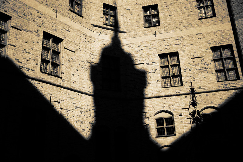 Shadow in the Castle Courtyard, Mariefred, Sweden © Laurel Casjens