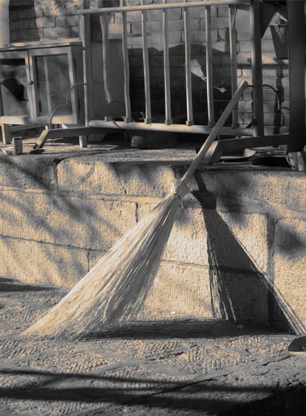 Broom, Tayuan Tempel, Wutai Shan China © Laurel Casjens