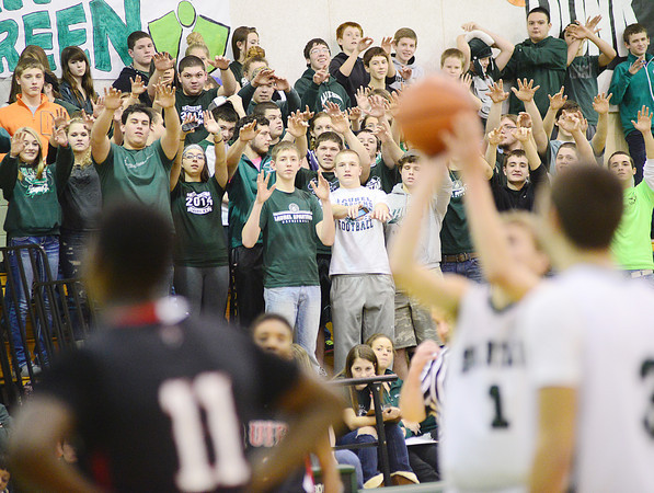 Laurel fans watch Zachary Wilson take a free throw. — Tiffany Wolfe