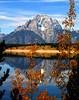Image #1453. Reflections on Jenny Lake overlooking Grand Teton National Park, WY.