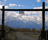 """Image #2418.  """"MH"""" Ranch overlooking the Grand Tetons."""
