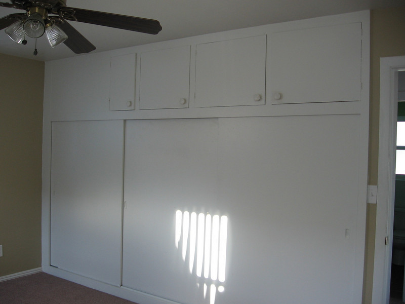 Master bedroom closets and storage