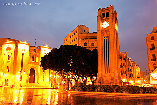 Place d'Etoile in Beirut. Parliament building on the left