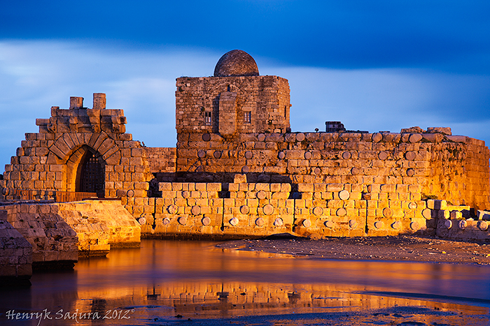 Sidon Sea Castle - built by Crusaders in XIII century
